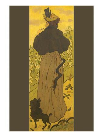 paul-ranson-woman-standing-beside-railing-with-poodle