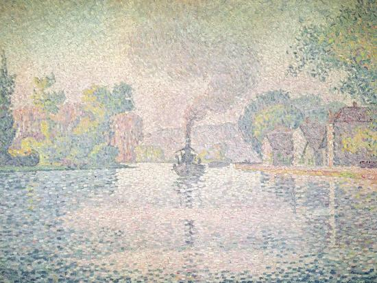 paul-signac-the-seine-at-sannois-the-tugboat-l-hirondelle-1901