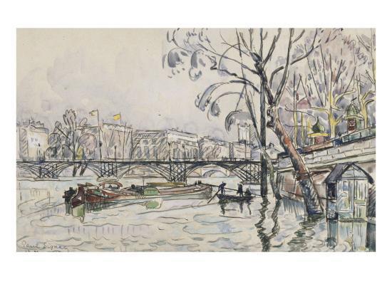 paul-signac-vue-de-la-seine-en-crue-au-pont-des-arts
