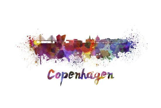 paulrommer-copenhagen-skyline-in-watercolor