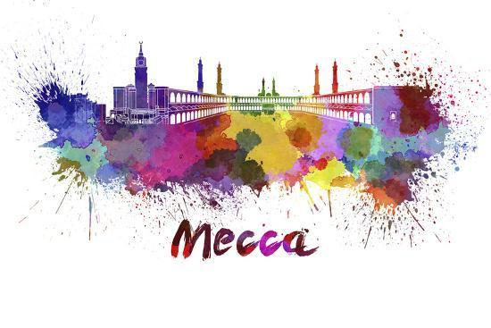 paulrommer-mecca-skyline-in-watercolor