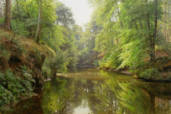 peder-mork-monsted-the-quiet-river-1913