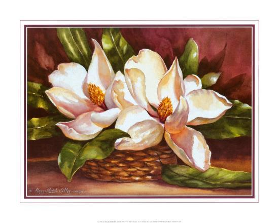 peggy-thatch-sibley-magnolias-in-basket