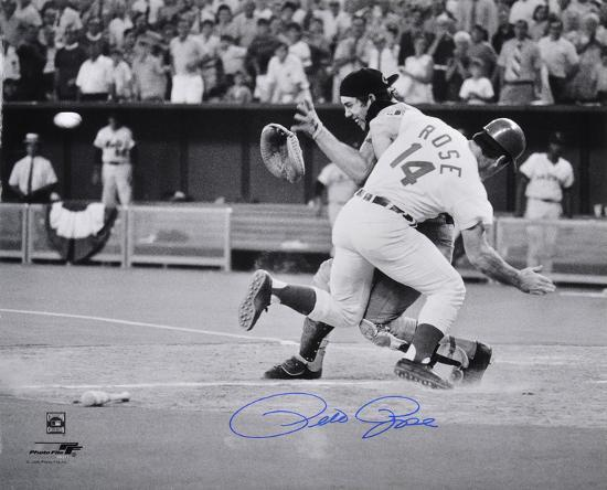 pete-rose-cincinnati-reds-collision-autographed-photo-hand-signed-collectable