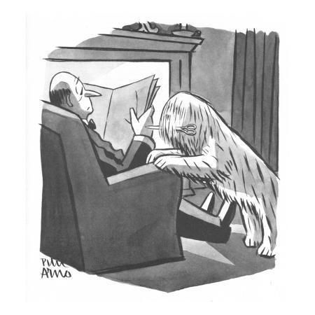 peter-arno-sheepdog-dog-brings-his-master-a-pair-of-shears-new-yorker-cartoon