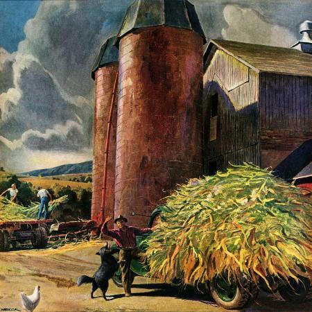 peter-helck-corn-silos-september-1-1950