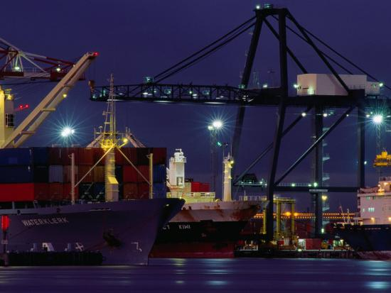 peter-hendrie-container-ships-melbourne-docks-melbourne-australia
