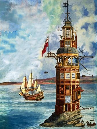 peter-jackson-the-first-eddystone-lighthouse