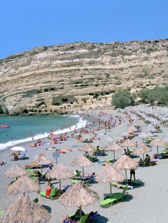 peter-thompson-beach-and-caves-matala-crete-greece