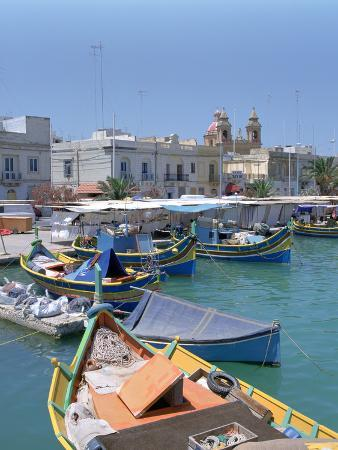 peter-thompson-fishing-boats-in-the-harbour-marsaxlokk-malta