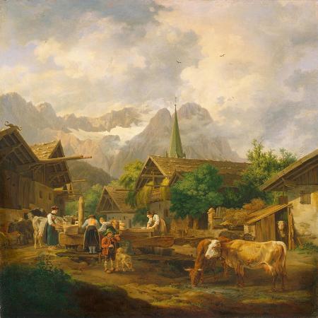 peter-von-hess-morning-in-partenkirchen-1819