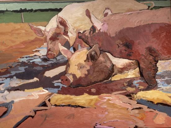 peter-wilson-pigs-in-sunlight-and-mud-1981