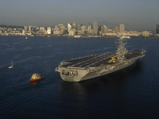 phil-schermeister-aircraft-carrier-with-skyline-of-san-diego-california