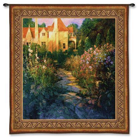 philip-craig-garden-walk-at-sunset