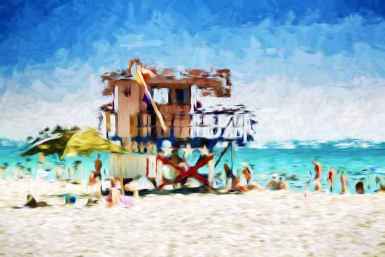philippe-hugonnard-american-beach-in-the-style-of-oil-painting