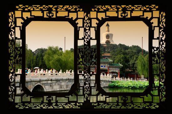 philippe-hugonnard-china-10mkm2-collection-asian-window-beihai-park-at-sunset