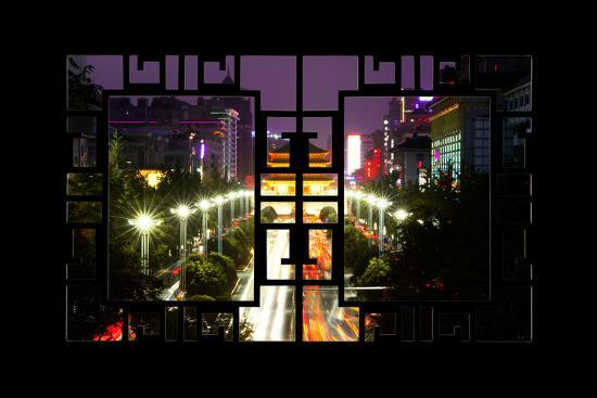 philippe-hugonnard-china-10mkm2-collection-asian-window-city-night-xi-an