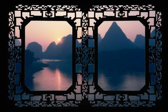 philippe-hugonnard-china-10mkm2-collection-asian-window-great-view-of-yangshuo-with-karst-mountains-at-sunrise