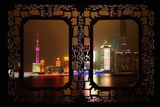philippe-hugonnard-china-10mkm2-collection-asian-window-shanghai-cityscape-at-night