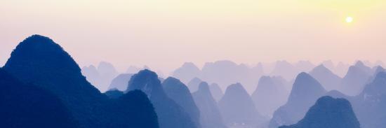 philippe-hugonnard-china-10mkm2-collection-karst-mountains-at-sunset-yangshuo