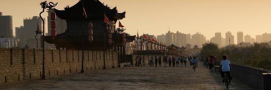 philippe-hugonnard-china-10mkm2-collection-shadows-of-the-city-walls-at-sunset-xi-an-city