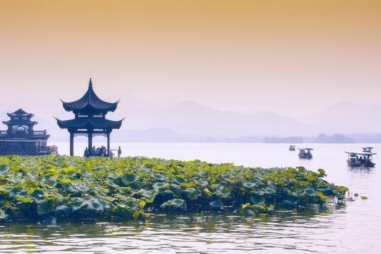 philippe-hugonnard-china-10mkm2-collection-west-lake-at-sunset