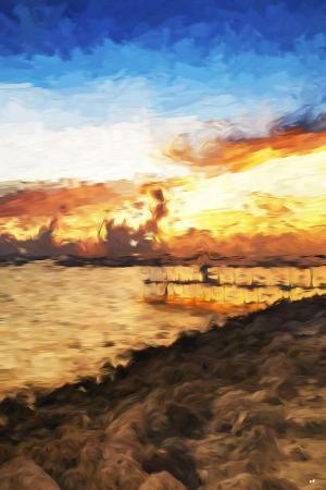 philippe-hugonnard-coastal-sunset-ii-in-the-style-of-oil-painting