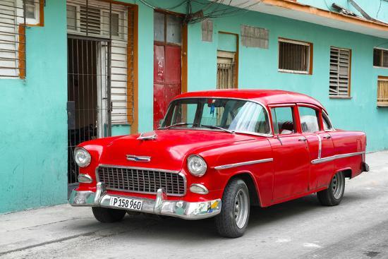 philippe-hugonnard-cuba-fuerte-collection-beautiful-classic-american-red-car
