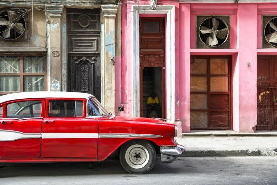 philippe-hugonnard-cuba-fuerte-collection-old-classic-american-red-car