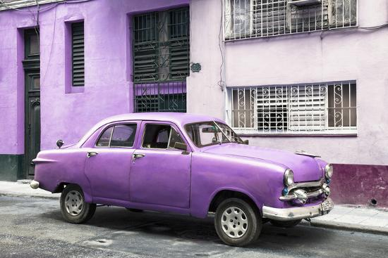 philippe-hugonnard-cuba-fuerte-collection-old-purple-car-in-the-streets-of-havana