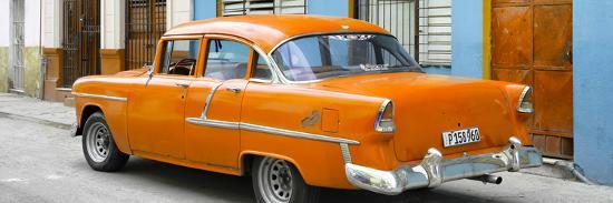 philippe-hugonnard-cuba-fuerte-collection-panoramic-cuban-orange-classic-car-in-havana