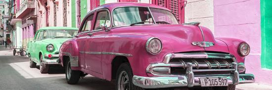 philippe-hugonnard-cuba-fuerte-collection-panoramic-two-chevrolet-cars-pink-and-green