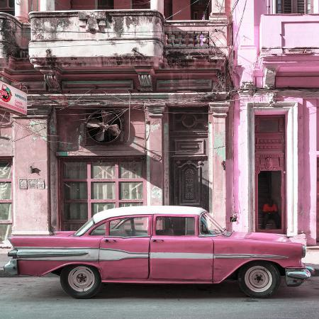philippe-hugonnard-cuba-fuerte-collection-sq-old-pink-car-in-havana
