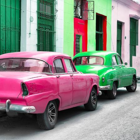 philippe-hugonnard-cuba-fuerte-collection-sq-two-classic-american-cars-pink-green
