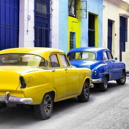 philippe-hugonnard-cuba-fuerte-collection-sq-two-classic-american-cars-yellow-blue