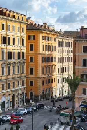 philippe-hugonnard-dolce-vita-rome-collection-street-of-rome-at-sunset