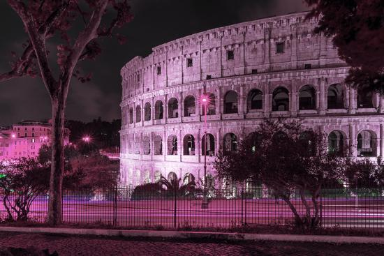 philippe-hugonnard-dolce-vita-rome-collection-the-colosseum-pink-night