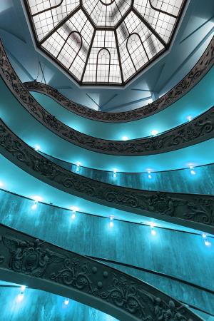 philippe-hugonnard-dolce-vita-rome-collection-turquoise-vatican-staircase