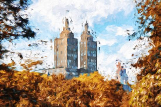 philippe-hugonnard-fall-foliage-in-central-park-ii-in-the-style-of-oil-painting