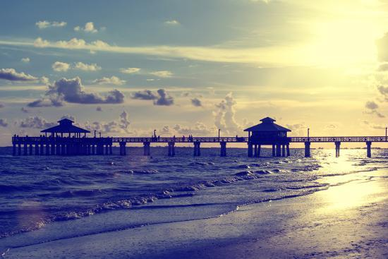 philippe-hugonnard-fishing-pier-fort-myers-beach-at-sunset-florida