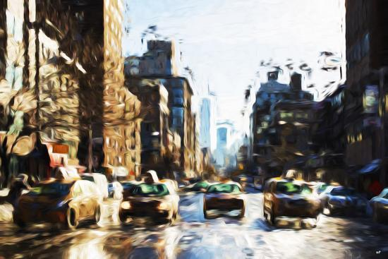 philippe-hugonnard-four-taxis-in-the-style-of-oil-painting
