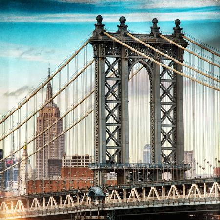 philippe-hugonnard-instants-of-ny-series-manhattan-bridge-with-the-empire-state-building-from-brooklyn-bridge