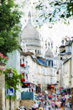philippe-hugonnard-paris-montmartre-vi-in-the-style-of-oil-painting