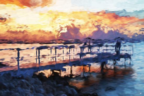 philippe-hugonnard-romantic-pontoon-ii-in-the-style-of-oil-painting