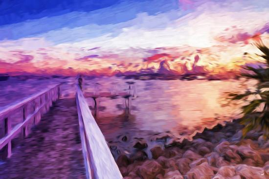 philippe-hugonnard-romantic-pontoon-iii-in-the-style-of-oil-painting