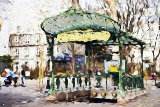 philippe-hugonnard-subway-entrance-ii-in-the-style-of-oil-painting