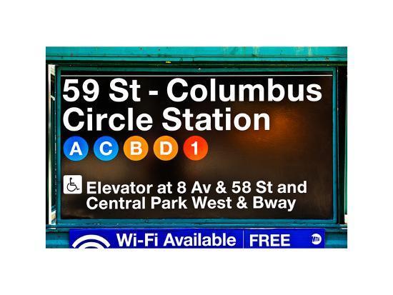 philippe-hugonnard-subway-station-signs-59-street-columbus-circle-station-manhattan-nyc-white-frame