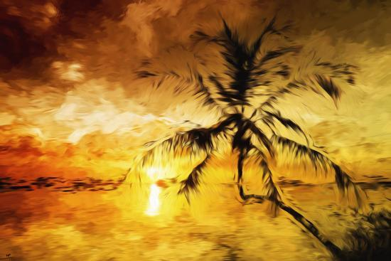 philippe-hugonnard-sunset-palm-i-in-the-style-of-oil-painting