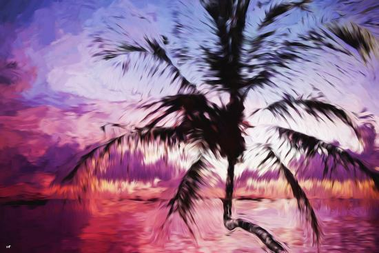 philippe-hugonnard-tropical-sunset-ii-in-the-style-of-oil-painting