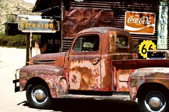 philippe-hugonnard-truck-route-66-gas-station-arizona-united-states